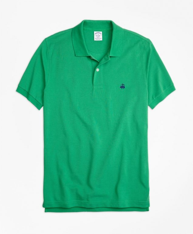 Brooks Brothers Bright Green Mens Polo Shirt