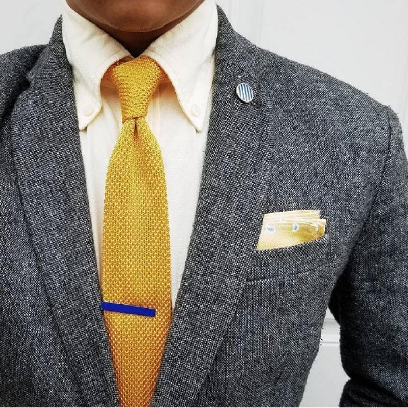 Mens Tie Bar in Royal Blue