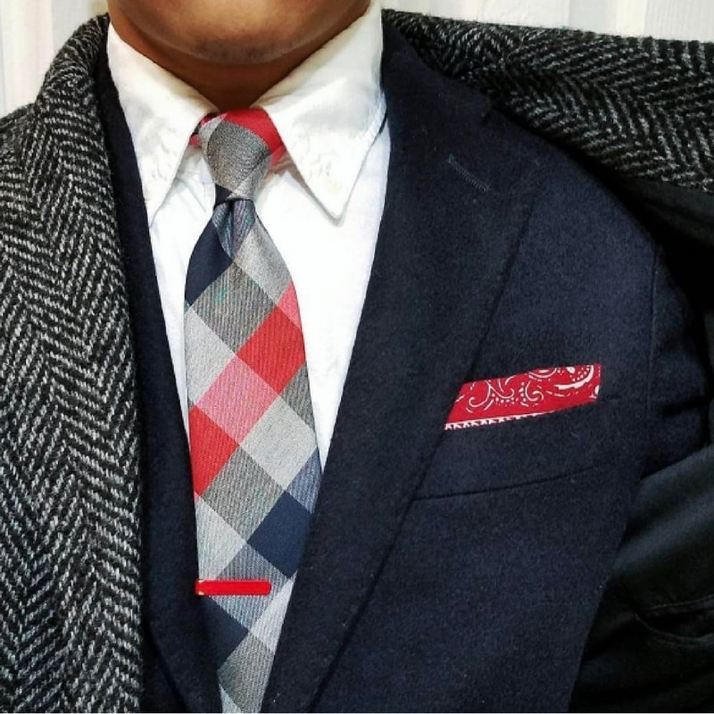 Mens Tie Bar in Cherry Red