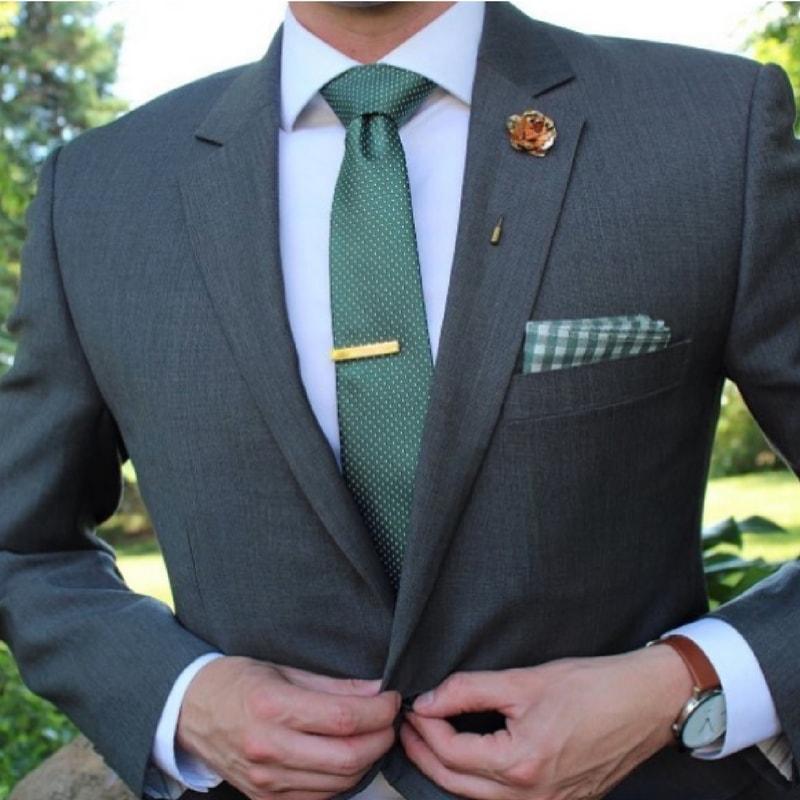1.5 Inch Mens Tie Bar in Shiny Brass