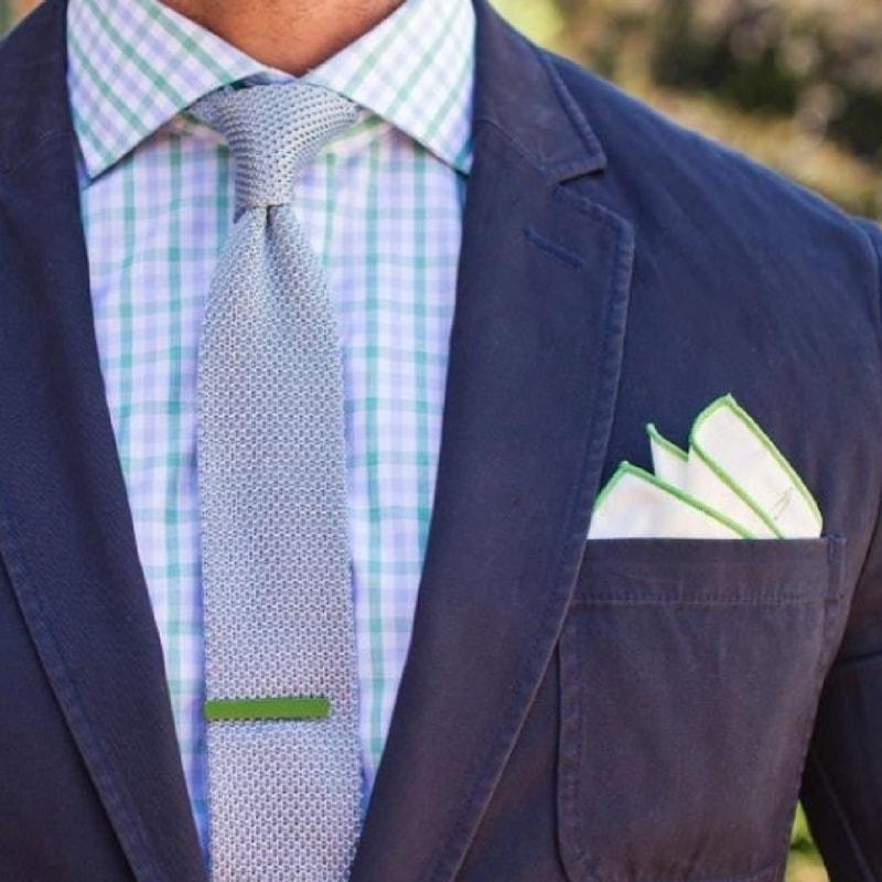 Mens Tie Bar in Grass Green