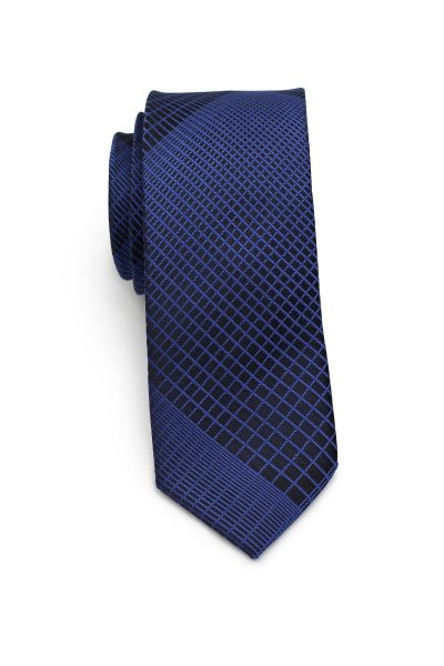 Designer Skinny Tie by Puccini in Dark Blue and Black