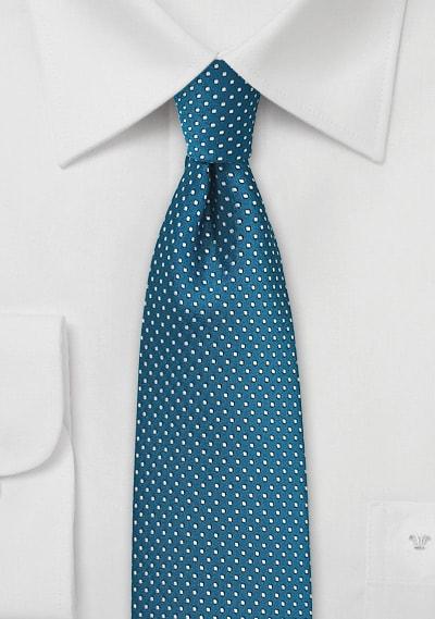 Pin Dot Turquoise Necktie