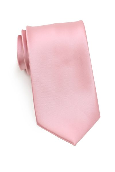 Solid Mens Tie in Petal Pink