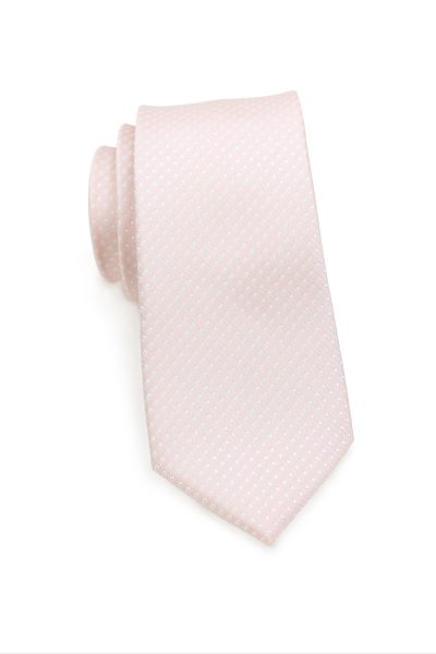 Blush Pink Tie with Formal Pin Dots