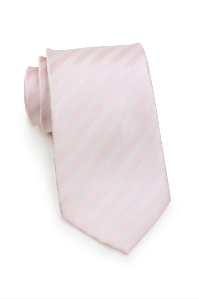 Blush Pink Striped Men Tie