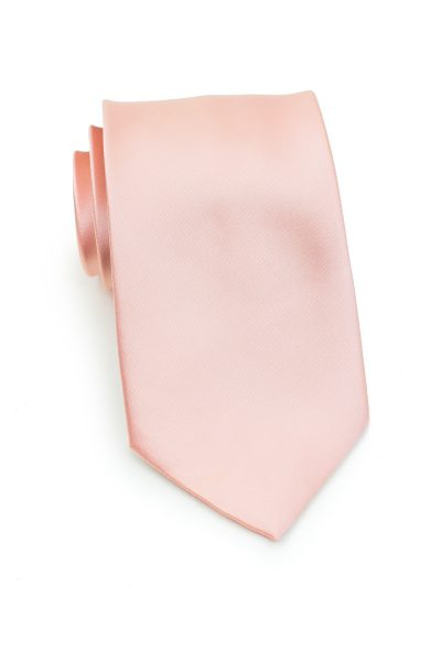 Solid Peach Blush Hued Tie