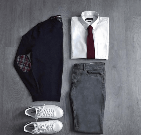 Casual Friday Menswear with Knit Necktie