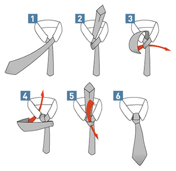 Double Windsor Tie Knot Diagram Www Casei Store